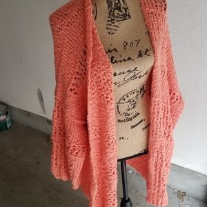 NEW LIST! Free People coral knit sweater